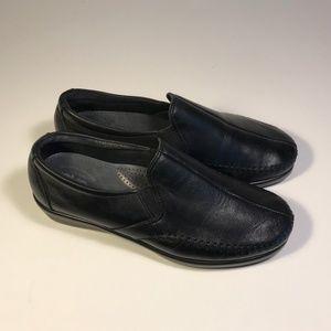 SAS Tripad Black Leather Loafers Women 8.5 W